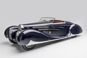 Pictures BUGATTI Vintage Gray background Convertible Blue 1939 Type 57C Cabriolet by Vanvooren Cars