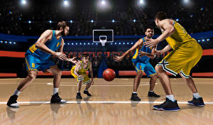 Photo Basketball Man Uniform Ball Sport
