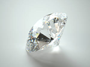 Photo Diamond cut Closeup Gray background