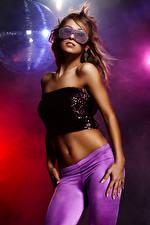 Wallpaper Brown haired Eyeglasses Dance Hands Glamour