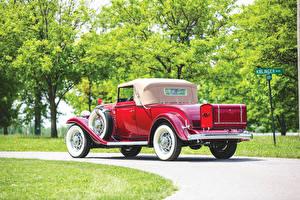 Hintergrundbilder Buick Antik Coupe Rot Hinten 1932 Series 90 Convertible Coupe auto