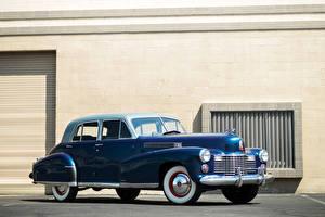 Bilder Cadillac Retro Blau 1941 Fleetwood Sixty Special Sedan auto