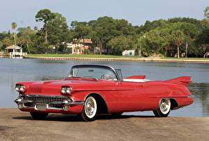 Hintergrundbilder Cadillac Antik Rot Cabriolet 1958 Eldorado Biarritz The Raindrop Dream Car Autos
