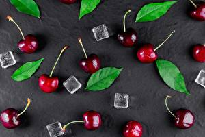 Pictures Cherry Ice Foliage Food
