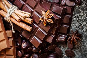 Bakgrunnsbilder Sjokolade Kanel Stjerneanis Sjokoladeplate