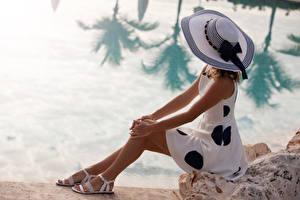 Fonds d'écran Côte S'asseyant Chapeau Les robes