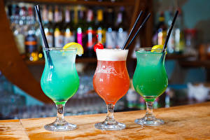 Wallpapers Cocktail Alcoholic drink Stemware Three 3 Food