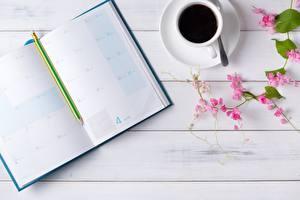 壁纸,,咖啡,記事本,铅笔,木板,
