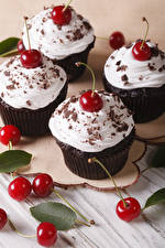 Images Dessert Cherry Chocolate Cupcake