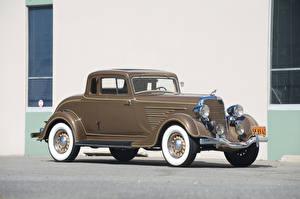 Fotos Dodge Retro Braunes Coupe 1934 Deluxe Rumble Seat Coupe automobil