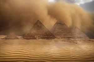 Bilder Ägypten Wüste Pyramide bauwerk Sand