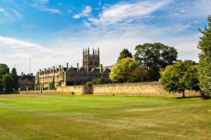 Images England Lawn Fence Merton College Oxford University Cities