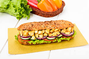 Photo Fast food Sandwich Vegetables Meat products
