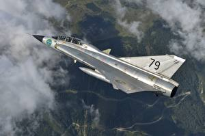 Pictures Airplane Fighter aircraft Flight Saab 35 Draken Swedish Air Force