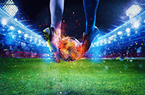 Hintergrundbilder Fußball Flamme Stadion Bein Ball Turnschuh Rasen