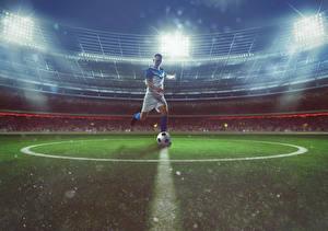 Hintergrundbilder Fußball Mann Stadion Ball Uniform