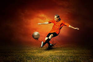 Photo Footbal Man To beat Legs Ball sports