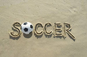 Pictures Footbal English Ball Sand Soccer