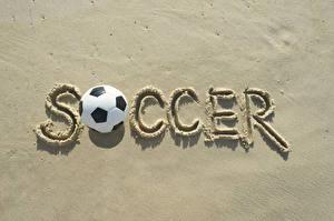 Bilder Fußball Englische Ball Sand Soccer sportliches
