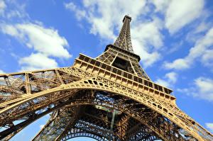 Hintergrundbilder Frankreich Eiffelturm Paris Untersicht Ansicht von unten Städte