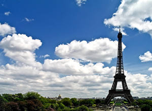 Bilder Frankreich Himmel Paris Eiffelturm Wolke