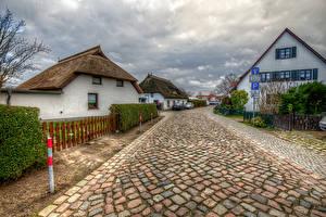 Fotos Deutschland Gebäude Wege Straße HDRI Zaun Wieck Mecklenburg-Vorpommern Städte
