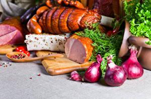 Bilder Schinken Zwiebel Dill Schwarzer Pfeffer Schneidebrett Salo - Lebensmittel