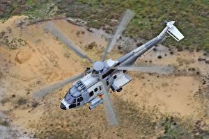 Fotos Hubschrauber Flug Von oben Airbus Helicopters H225M