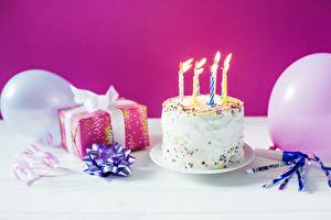 Images Holidays Candles Cakes Birthday Present Food