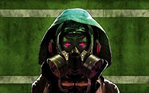 Wallpaper Hood headgear Gas mask Headphones Glance