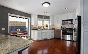 壁纸,,室內,设计,廚房,桌子,