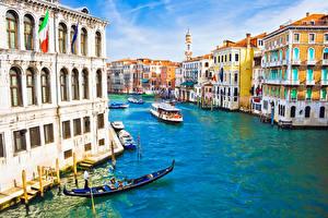 Hintergrundbilder Italien Boot Gebäude Binnenschiff Venedig Kanal Städte