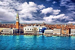 Bilder Italien Haus Venedig Kanal Wolke Städte