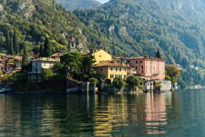 Hintergrundbilder Italien See Gebäude Varenna Lake Como Städte