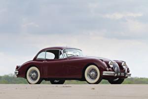 Bilder Jaguar Bordeauxrot Metallisch 1958-61 Jaguar XK150 Fixed Head Coupe Autos