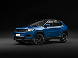 Pictures Jeep Gray background Blue 2018-19 Compass Night Eagle Worldwide Cars
