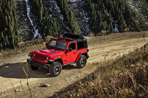 Image Jeep Red 2018-19 Wrangler Rubicon Cars
