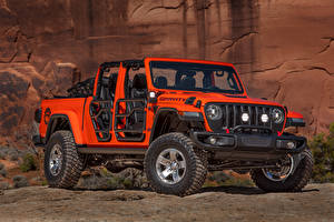 Wallpaper Jeep Red Pickup 2019 Gladiator Gravity automobile