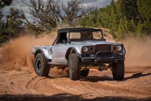 Hintergrundbilder Jeep Sport Utility Vehicle Pick-up Silber Farbe 2019 M-715 Five-Quarter Autos