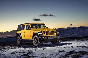 Фото Джип Внедорожник Желтый 2019 Wrangler Unlimited Rubicon Авто
