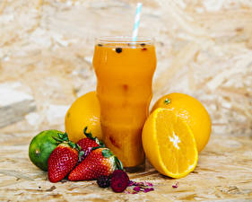 Picture Juice Orange fruit Strawberry Highball glass Food