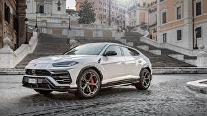 Wallpapers Lamborghini White 2018 Urus