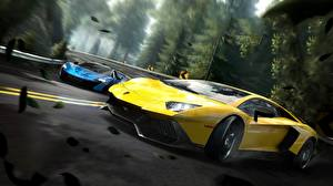 Pictures Lamborghini Need for Speed Yellow Edge Aventador Games Cars 3D_Graphics