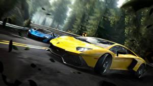 Hintergrundbilder Lamborghini Need for Speed Gelb Edge Aventador Spiele Autos