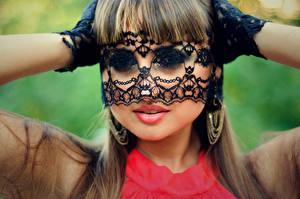Fotos Masken Lippe Schminke Gesicht junge frau