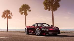 Hintergrundbilder McLaren Bordeauxrot 2018 MSO 720S Autos