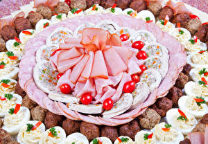 Images Meat products Sausage Ham Sliced food Eggs Food