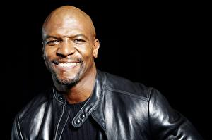 Wallpaper Man Negroid Bald Smile Face Black background Terry Crews Celebrities