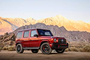 Pictures Mercedes-Benz G-Wagen Red 2018 G-Class G63 AMG automobile