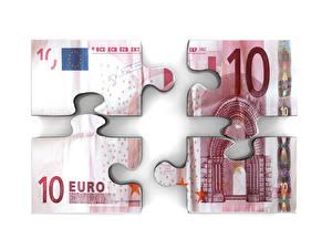 Bilder Geld Geldscheine Euro Weißer hintergrund